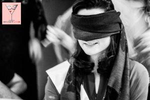 bride blindfolded