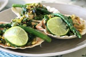 scallops&asparagus