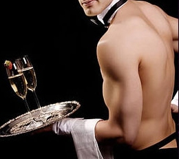 topless waiter